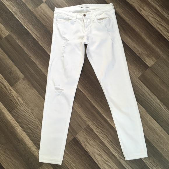 Flying Monkey Denim - Flying Monkey White Destroyed Jeans